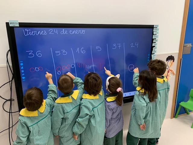 Los alumnos de infantil trabajan con el método ABN
